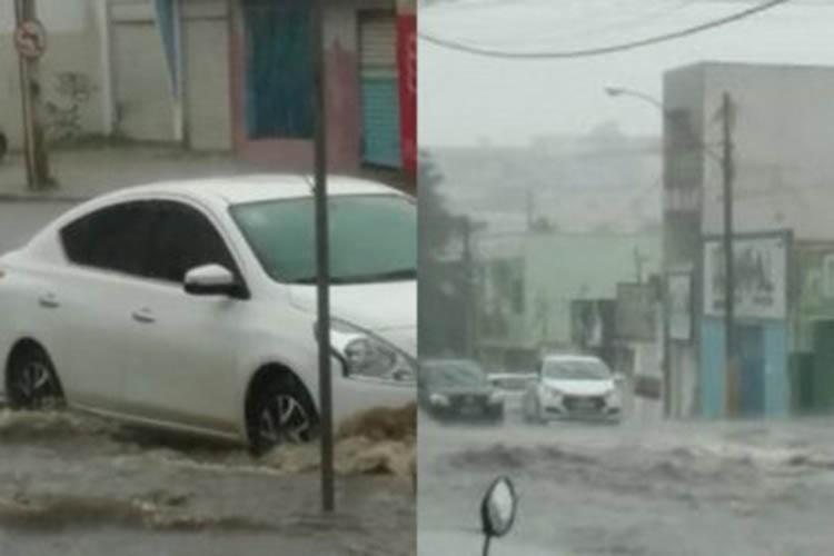 Forte chuva causou transtorno no trânsito de Vitória da Conquista - Foto: Reprodução | Blog do Anderson