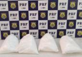 Jovem de 18 anos é presa com cocaína dentro de ônibus em Ibotirama | Foto: PRF