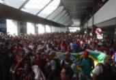 Torcida do Bahia lota aeroporto para recepcionar Fernandão | Foto: Felipe Oliveira | EC Bahia