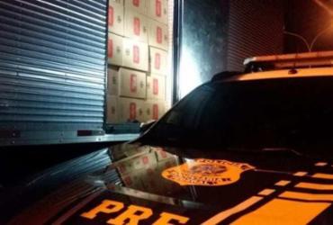 Caminhão com R$ 1 milhão em cigarros clandestinos é apreendido | Divulgação | PRF-BA