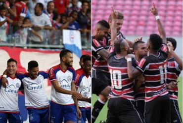 Bahia encara o Santa Cruz pela segunda rodada do Nordestão | Felipe Oliveira / EC Bahia | Reprodução / Santa Cruz