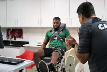 Goleiro do Vitória sofre lesão no joelho esquerdo | Mauricia da Matta | EC Vitória