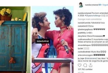 Nanda Costa brinca com 'saída do armário' ao postar foto do 'desafio dos 10 anos' | Reprodução | Instagram