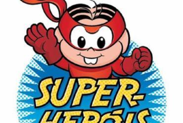 Na ambientação, Mônica, Cebolinha, Magali e Cascão encarnam super-heróis para convidar as crianças para momentos de aventura e diversão - Divulgação
