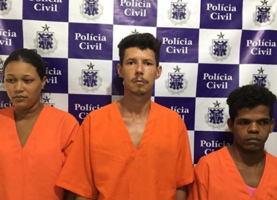 Trio é preso após estuprar adolescentes de 13 anos | Divulgação | SSP-BA
