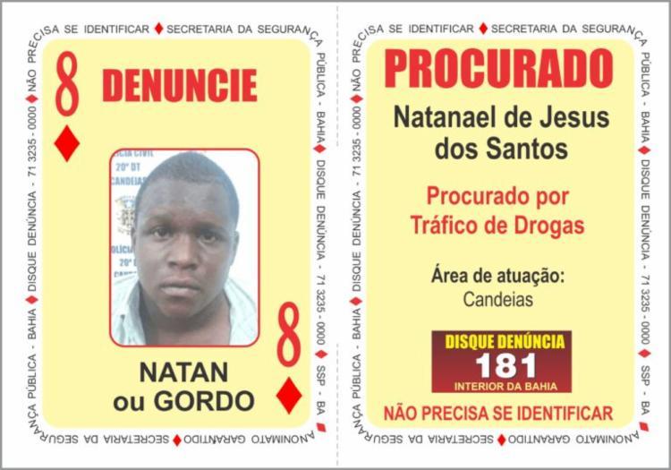 Natanael de Jesus dos Santos estava foragido desde agosto de 2017
