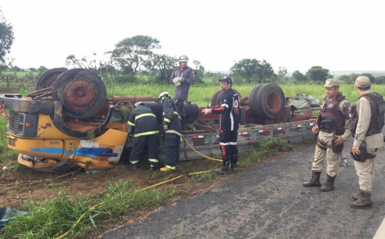 Acidente ocorreu na altura do Km-189 da BR-020 - Foto: Reprodução | Blog Braga