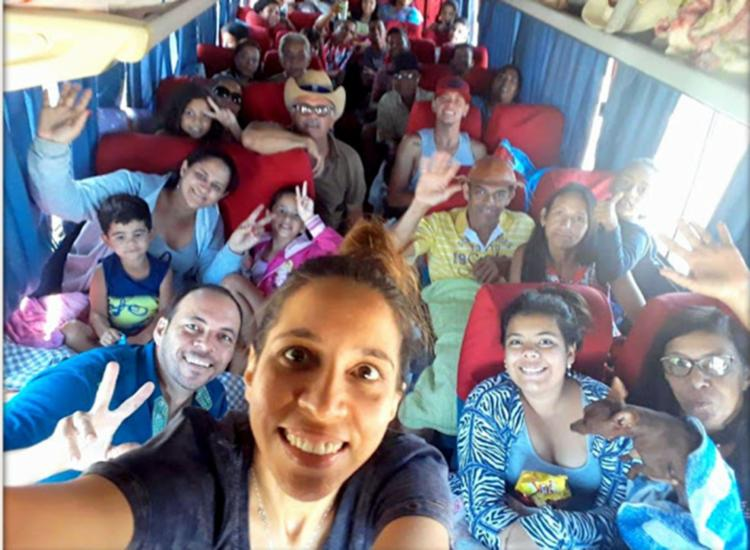 Família em selfie antes do acidente - Foto: Blog Liberdade Bom Sucesso