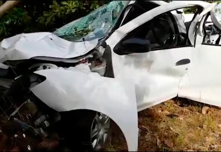 Acidente aconteceu nas proximidades da praia de Subaúma, na BA-099 - Foto: Reprodução | TV Bahia