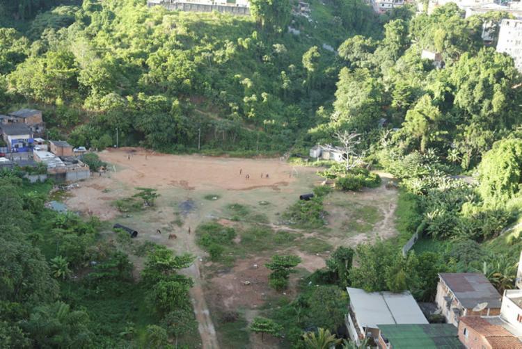 Construtora foi autuada por retirar a vegetação do terreno de forma irregular - Foto: Uendel Galter | Ag. A TARDE