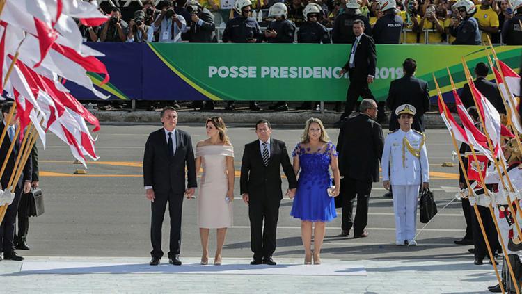 Neste ano, 46 delegações estrangeiras vieram à capital federal, para a posse de Jair Bolsonaro - Foto: Sergio Lima | AFP