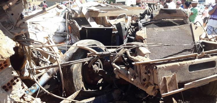 Uma das vítimas morreu no local e outras cinco morreram no Hospital Regional da Chapada - Foto: Nilson Santos | Reprodução | blog Liberdade Bom Sucesso