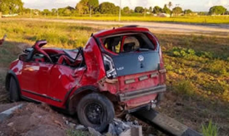 O acidente aconteceu na BR-418, na altura do distrito de Posto da Mata, em Nova Viçosa - Foto: Reprodução   site Itamaraju Noticias