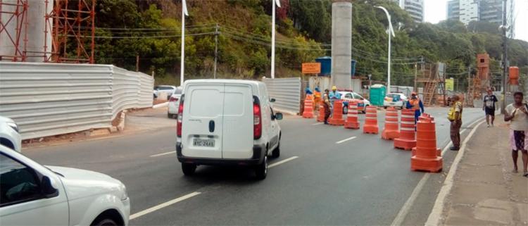 Pouco antes do Parque da Cidade, condutores deverão acessar onde antes era o canteiro central na via saindo pouco mais à frente - Foto: Divulgação