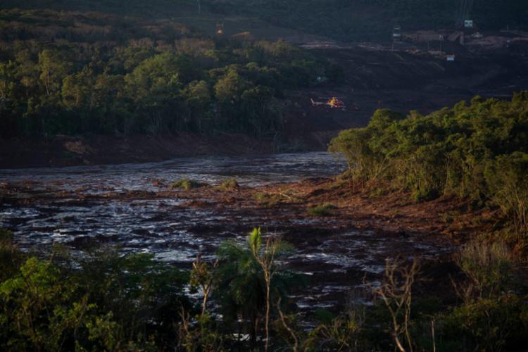 O que todos sabem: após a barragem da Vale romper, a pousada foi destroçada pela lama - Foto: Douglas Magno | AFP