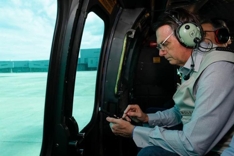 Bolsonaro voltou para Brasília depois do sobrevoo - Foto: Isac Nóbrega | PR