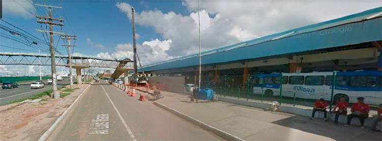Acidente aconteceu nas proximidades da Estação Mussurunga - Foto: Reprodução   Google Maps