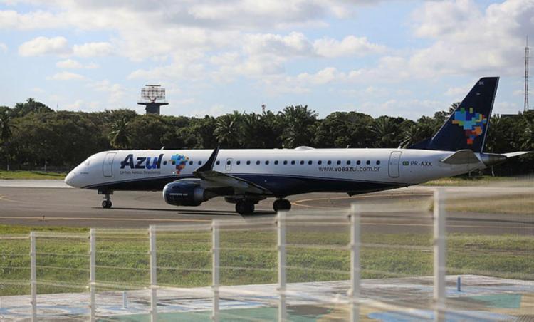 Azul aumentou o número de assentos disponíveis em 55%   Foto: Joá Souza   Ag. A TARDE - Foto: Joá Souza   Ag. A TARDE