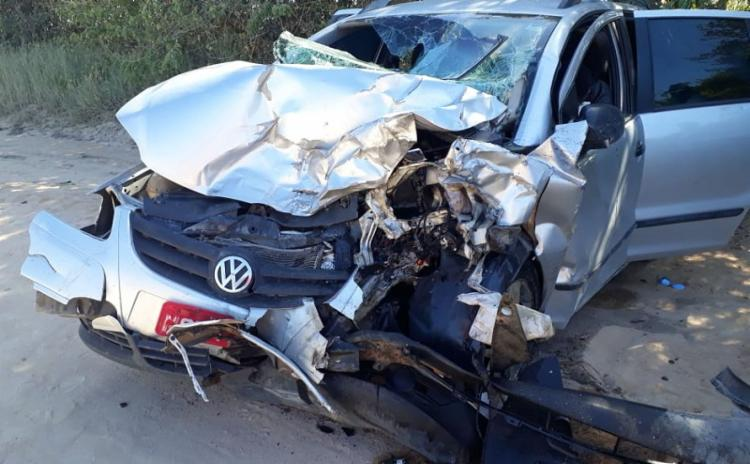 O acidente ocorreu na BA-001, no trecho que liga Prado ao distrito de Cumuruxatiba - Foto: Reprodução | site Liberdade News