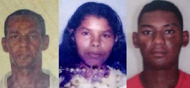 Cosme Amparo dos Santos, 54 anos, e João Pedro Santos, 16, morreram na hora. Elenilza Oliveira Conceição, 35, chegou a ser socorrida mas não resistiu.