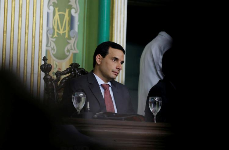 Léo Prates reagiu a provocação de Robinson Almeida - Foto: Adilton Venegeroles | Ag. A TARDE | 2.1.2019