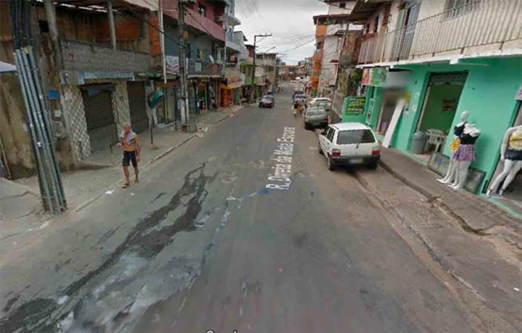 A explosão ocorreu na Rua Direta da Mata Escura - Foto: Reprodução | Google Maps