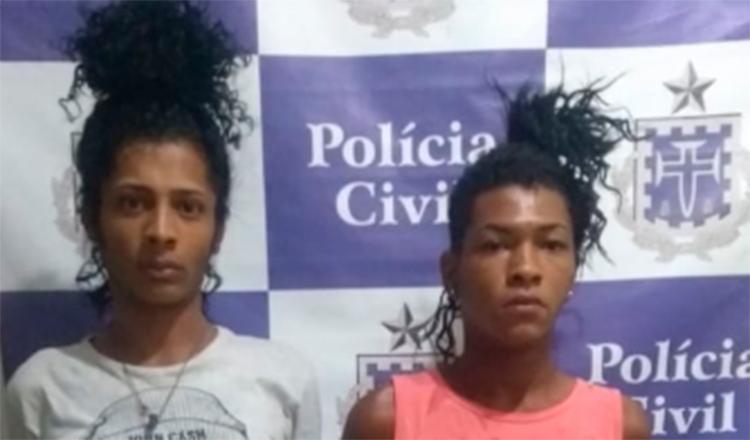 Lucas Barbosa dos Santos e Maítero Almeida dos Santos foram conduzido à a Delegacia Territorial (DT), de Juazeiro - Foto: Divulgação | Policia Civil