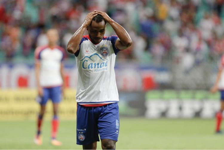 Bahia tem apenas quatro pontos em três partidas, ocupando a quinta posição na tabela - Foto: Tiago Caldas | Ag. A TARDE