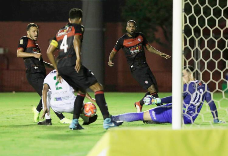 Com placar simples, Vitória conseguiu superar adversário no Barradão - Foto: Adilton Venegeroles | Ag. A TARDE