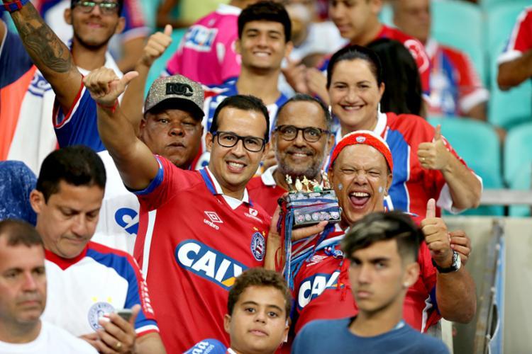Com promoção do terceiro anel da Arena custando $25, mais de 20 mil ingressos já foram comercializados - Foto: Felipe Oliveira | EC Bahia