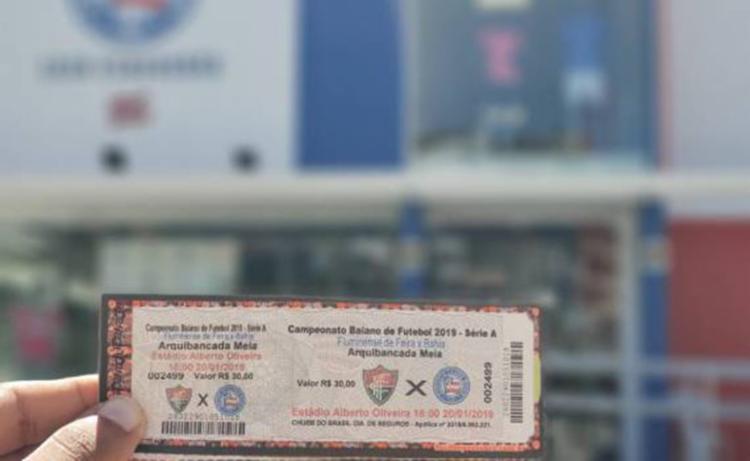 São 500 bilhetes disponíveis com o preço único de R$30 - Foto: Reprodução   EC Bahia