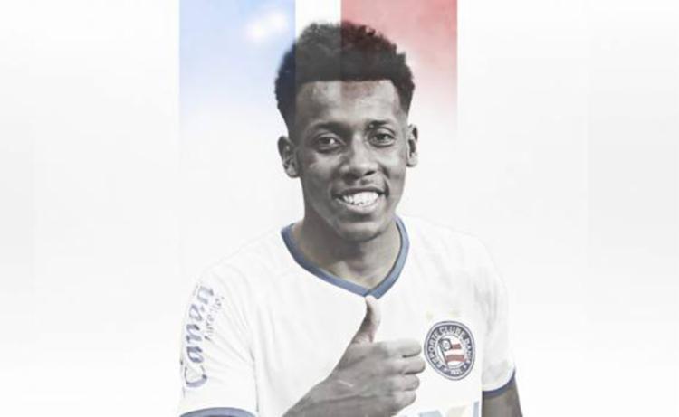 Moisés, que pertencia ao Corinthians, estava no Botafogo em 2018, onde foi campeão carioca e disputou 40 jogos - Foto: Reprodução   EC Bahia