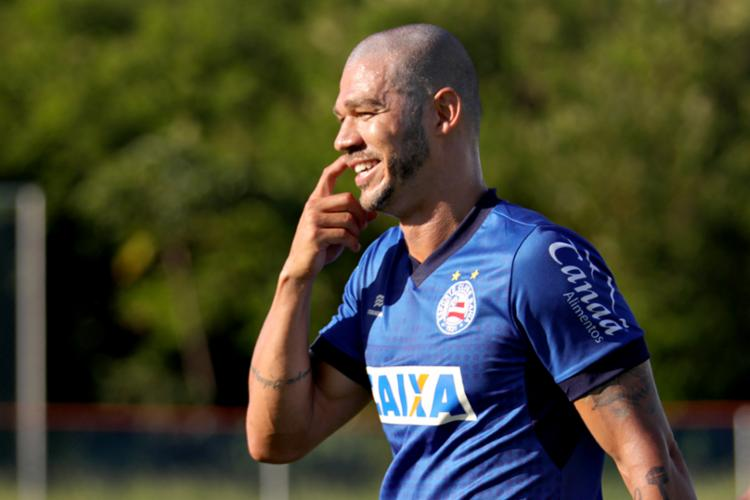 O meia se apresentou no dia 3 de janeiro, junto com os outros atletas - Foto: Felipe Oliveira   EC Bahia