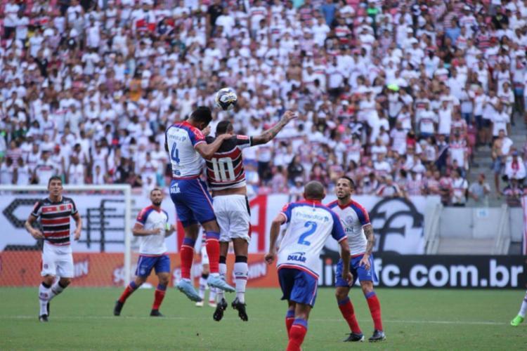 O resultado leva o Bahia aos quatros pontos em dois jogos no Nordestão - Foto: Rodrigo Baltar | Santa Cruz