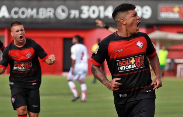 O Vitória é o segundo na tabela, com seis pontos e 100% de aproveitamento, ficando atrás do Bahia de Feira - Foto: Maurícia da Matta | EC Vitória