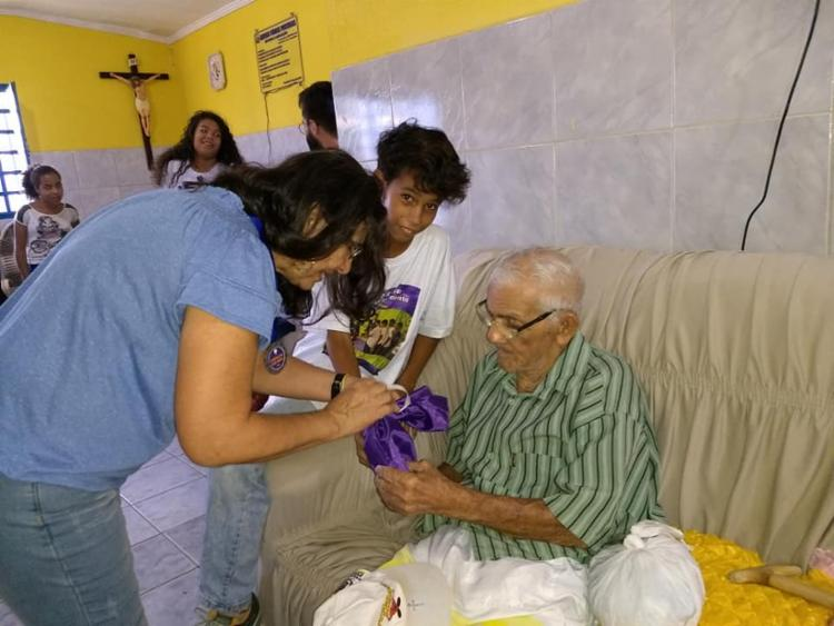 A iniciativa tem contribuído para que os estudantes tenham uma maior compreensão sobre questões voltadas à Melhor Idade e respeito aos mais velhos - Foto: Divulgação