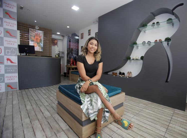 A Pimenta Doce Calçados fica no Shopping Estação Villas, em Lauro de Freitas (região metropolitana de Salvador) - Foto: Tiago Caldas / Ag. A Tarde