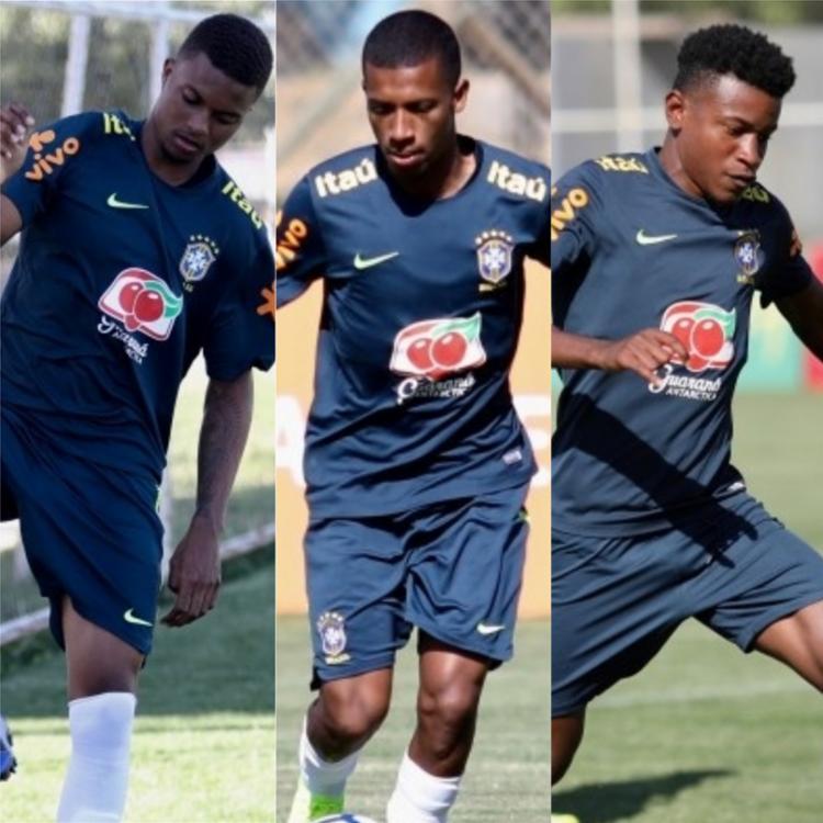 Lucas Ribeiro, Marcos Bahia e Ramires irão atuar pela seleção neste sábado, 19 - Foto: CBF