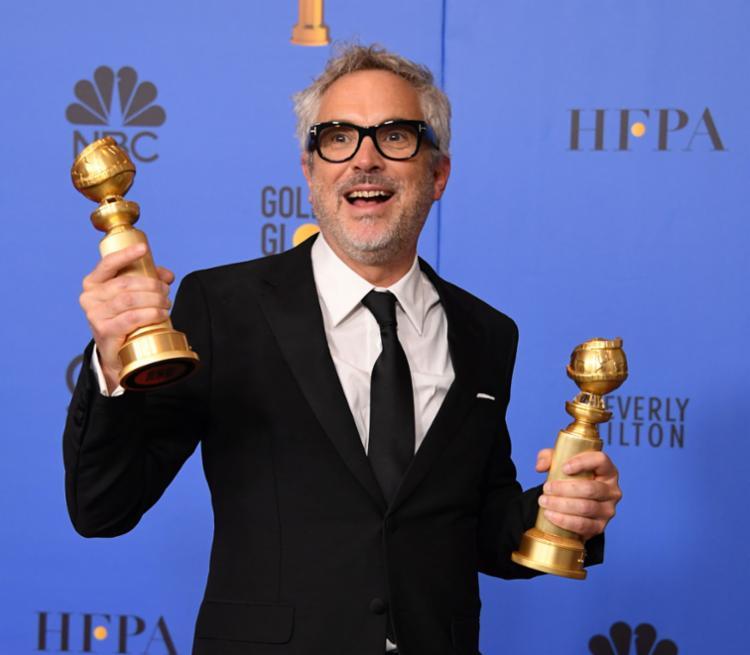 Alfonso Cuarón ganhou os prêmios de direção e melhor filme - Foto: Mark Ralston | AFP