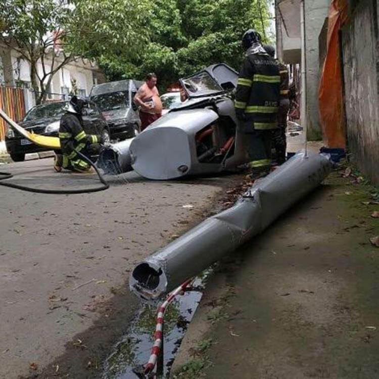 A vítima estava passando pelo local quando foi atingido pelo helicóptero - Foto: Reprodução