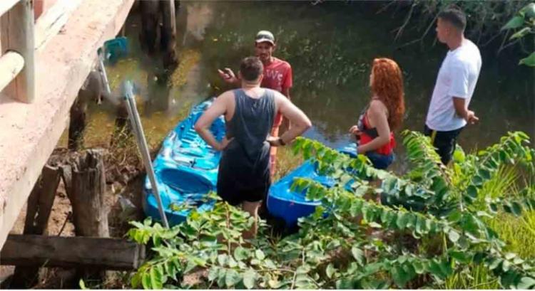 Corpo foi encontrado por um casal de turistas que passeava de caiaque no rio - Foto: Reprodução | Radar64