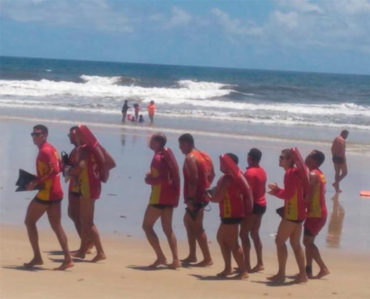 Cerca de 10 salva-vidas treinavam no local quando o incidente aconteceu - Foto: Divulgação | CBMBA