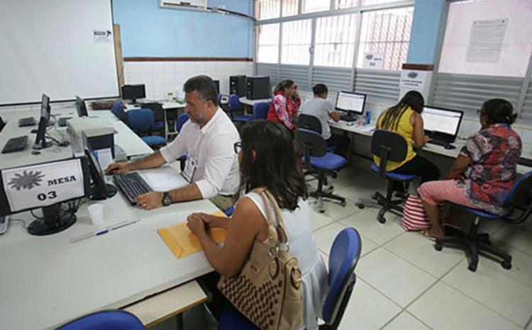 As matrículas na rede estadual de ensino foram iniciadas na segunda, 20 | Foto: Raul Spinassé | Ag. A TARDE | 28.1.2019 - Foto: Raul Spinassé | Ag. A TARDE