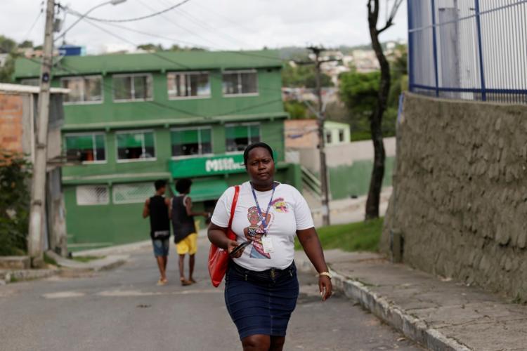 Sandra Almirante é agente comunitária há 16 anos e trabalha em Paripe. Foto: Adilton Venegeroles | Ag. A TARDE