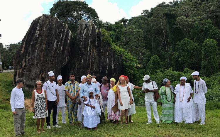 Ministério Público do Estado da Bahia pede providências para investigar os atos de vandalismo contra a Pedra de Xangô - Foto: Divulgação
