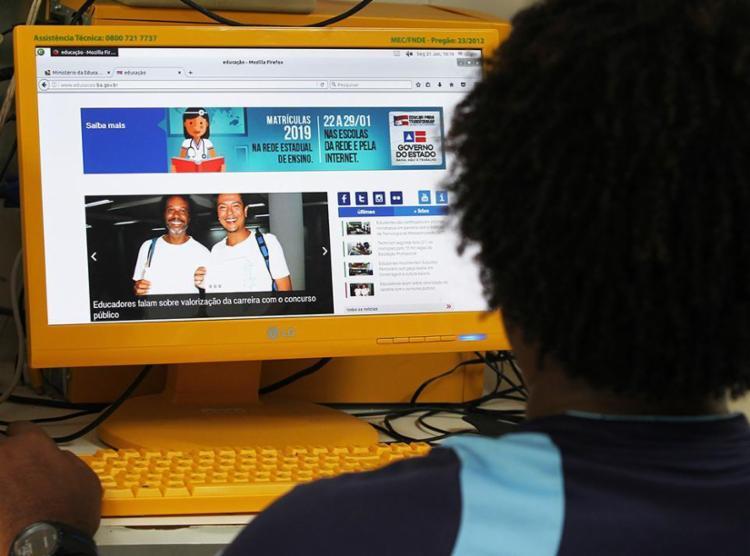 O edital do Partiu Estágio recebeu mais de 24 mil inscrições entre 30 de janeiro e 24 de fevereiro - Foto: Elói Corrêa   GOVBA