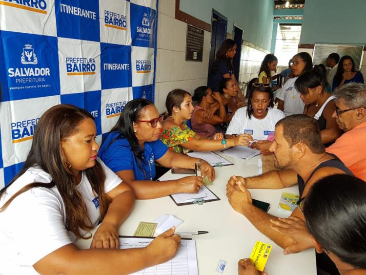 Com 80 vagas, Bolsa Família foi o serviço mais procurado na ação - Foto: Divulgação