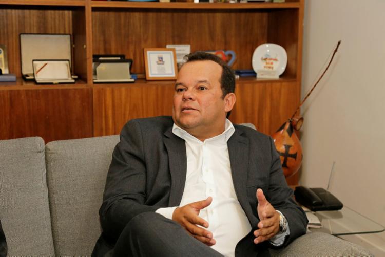 Geraldo Jr. reafirmou ao A TARDE sua pretensão de aproximar a CMS da população - Foto: Gilberto Junior | Ag. A TARDE