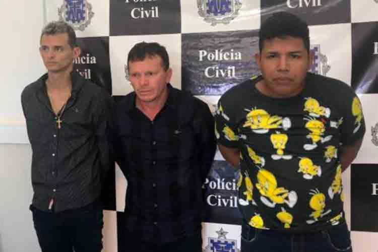 O trio eram investigados desde o início de 2019 por sequestrar a tesoureira de um banco - Foto: Divulgação | SSP-BA