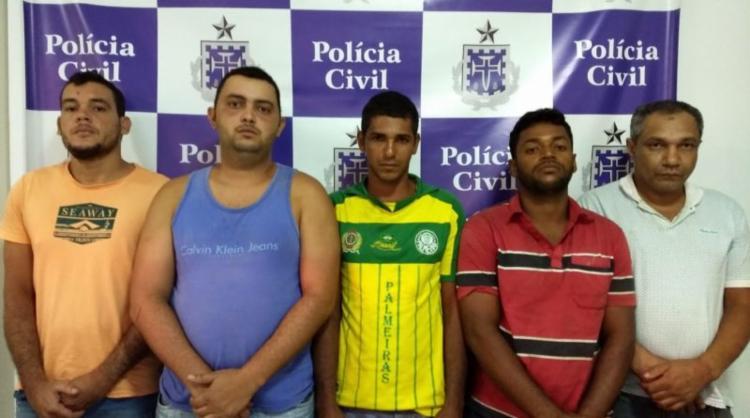 Cinco integrantes de uma quadrilha foram presos durante uma operação em Jequié - Foto: Divulgação | SSP-BA